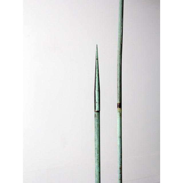 Aqua Antique Lightning Rods - A Pair For Sale - Image 8 of 8