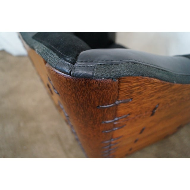 Brazilian Walnut Wing Lounge Chair - Image 10 of 10