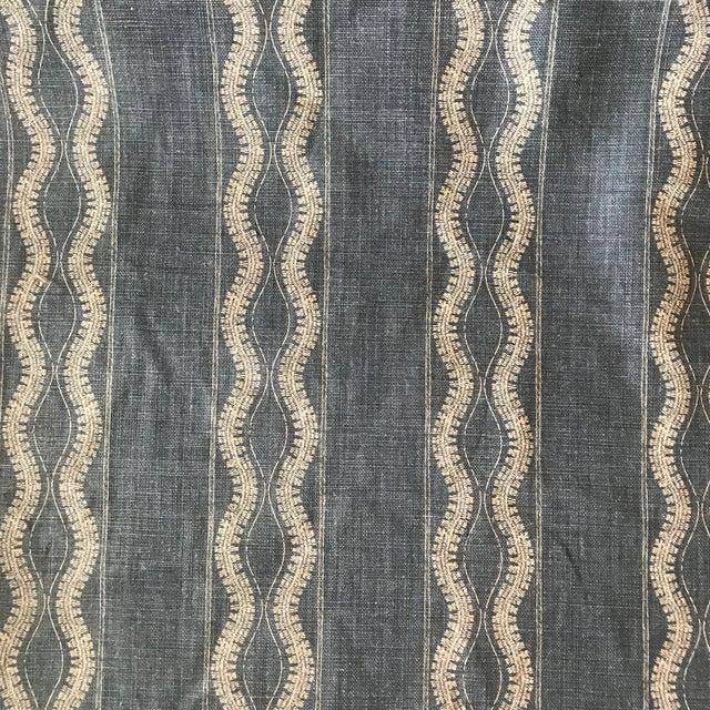 Peter Dunham Peter Dunham Zanzibar Indigo Linen Fabric- 4 Yards For Sale - Image 4 of 5