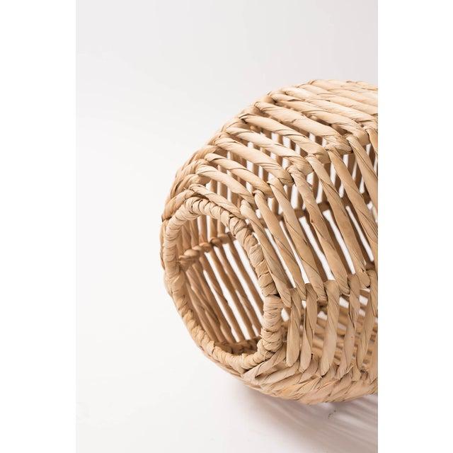 Late 20th century boho chic fiber and raffia woven hanging pendant late 20th century boho chic fiber and raffia woven hanging pendant light image 2 of aloadofball Gallery