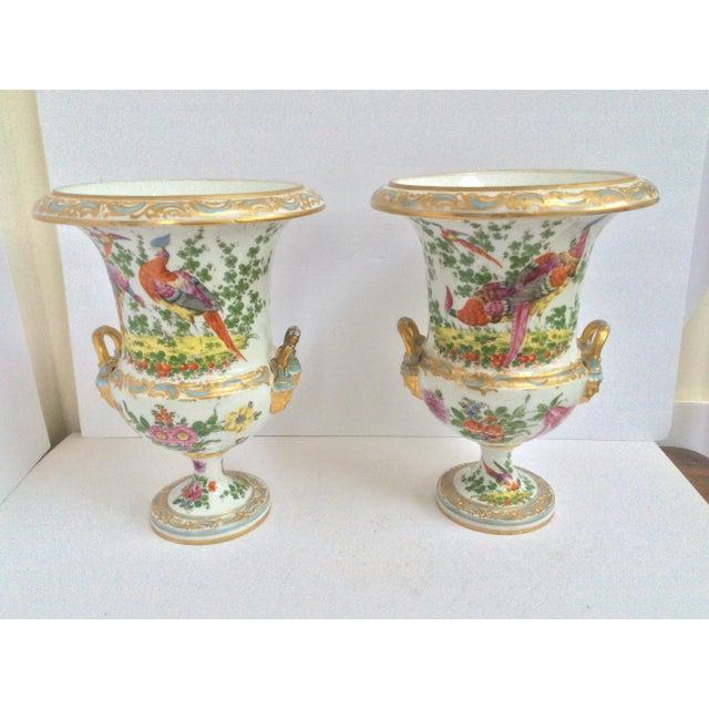 Stunning Large Pair Of Porcelain Urns - Image 7 of 7