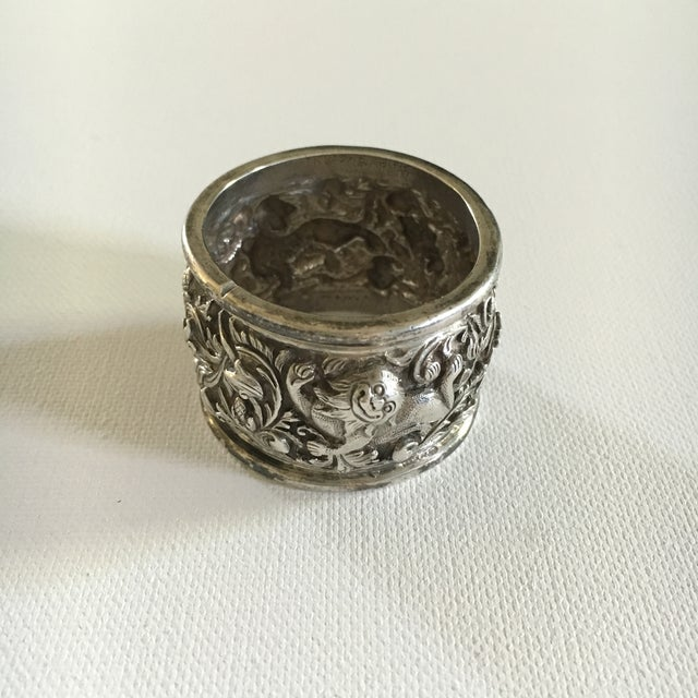 Antique Chinese Dragon Sterling Silver Napkin Ring - Image 2 of 3