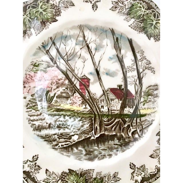 """Ceramic 1950's Johnson Brothers English """"Friendly Village"""" Dinnerware - Set of 17 For Sale - Image 7 of 13"""