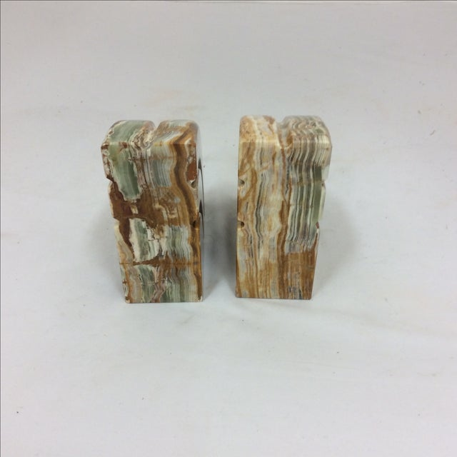Onyx Deco Style Bookends - Image 5 of 8