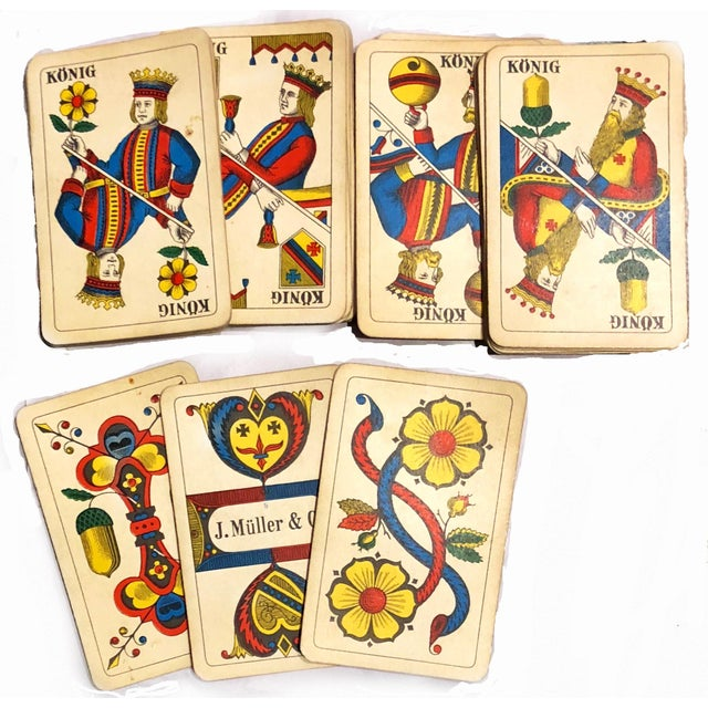White 19th Century Art Nouveau Playing Cards and Marquetry Box For Sale - Image 8 of 8