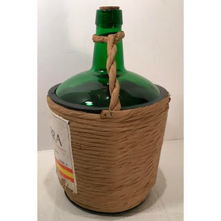 Vintage Spanish Wicker Covered Wine Bottle Preview