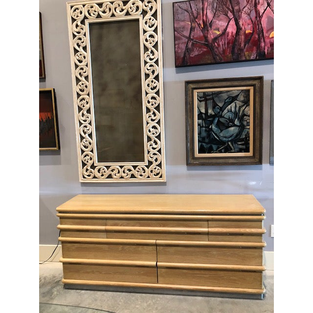 1970's Brutalist Cerused Cabinet by Jay Spectre For Sale In Miami - Image 6 of 9