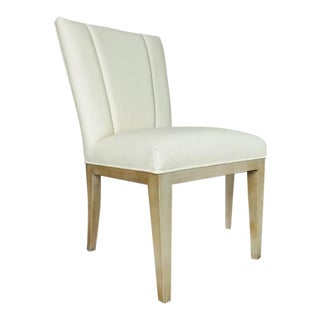 Henredon Furniture Barbara Barry Gray Palay Taupe Leather Dining Chair For Sale