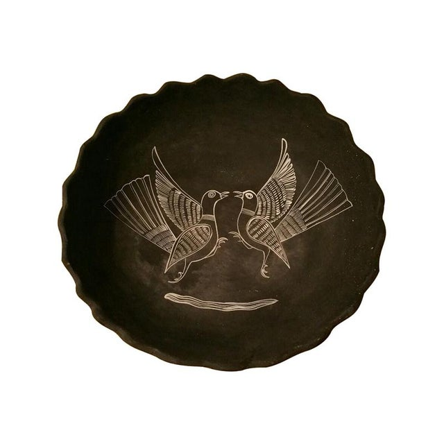Mexican Handpainted Bowl With Birds, X. Guerrero - Image 1 of 8
