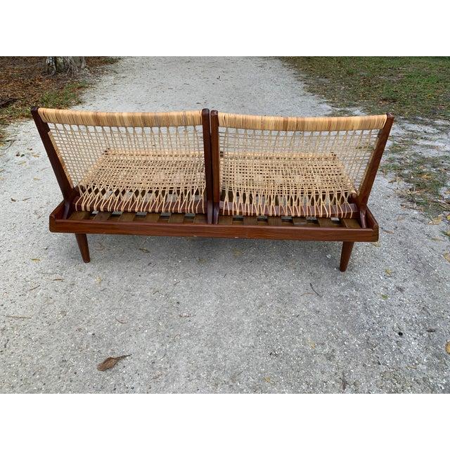 Hans Olsen for Bramin Mid-Century Modern Scandinavian Modular Bench Sofa and Loveseat-A Pair For Sale - Image 10 of 13