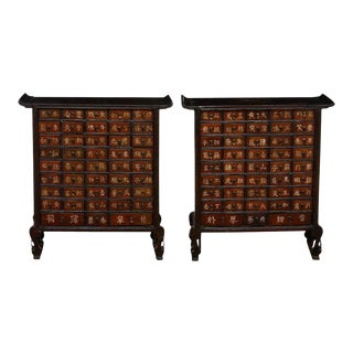 19th Century Qing Dynasty Apothecary Cabinets or Chests - A Pair