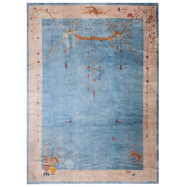 """Antique Chinese Art Deco Rug 12'0"""" X17'6"""" For Sale - Image 9 of 9"""