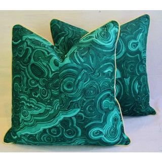 Tony Duquette-Style Jim Thompson Malachite Pillows - a Pair Preview