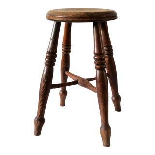 19th Century English Walnut Stool For Sale