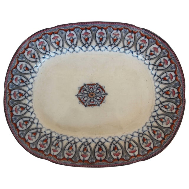 Ceramic Large Arabian Pattern Staffordshire Platter For Sale - Image 7 of 7