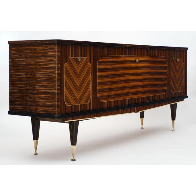Black Macassar of Ebony French Vintage Buffet For Sale - Image 8 of 12