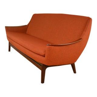 Gerhard Berg for Lk Hjelle Norway Mid Century Modern Teak Sofa