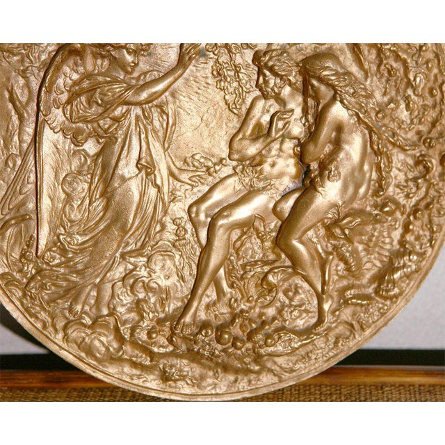 Bronze Plaque with Adam & Eve For Sale In Los Angeles - Image 6 of 7