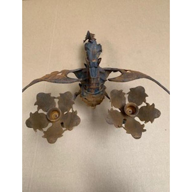 Iron Wall Scone Candle Holder For Sale In Los Angeles - Image 6 of 8
