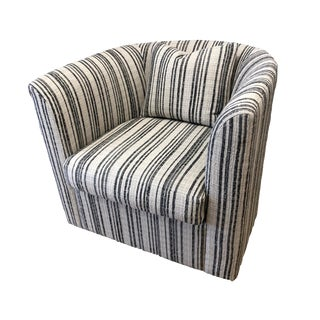 Striped Swivel Chair For Sale