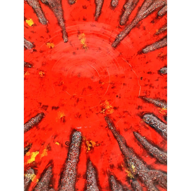 1990s Very Large Vietnamese Red Lacquer Charger For Sale In Boston - Image 6 of 10