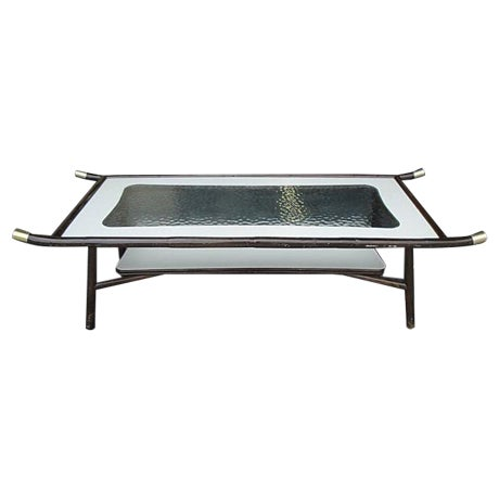 1960s Chinoiserie Mica Coffee Table For Sale