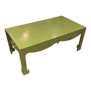 Bungalow 5 Spring Green Lacquer Coffee Table For Sale
