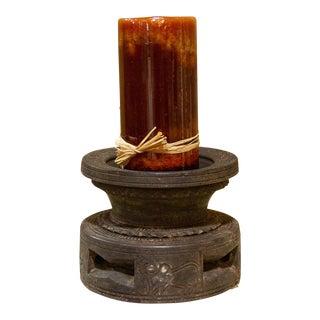 Tribal Carved Bijani Candleholder For Sale