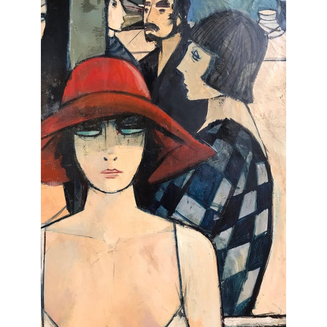 Charles Levier Mid-Century Figurative French Painting For Sale - Image 4 of 8