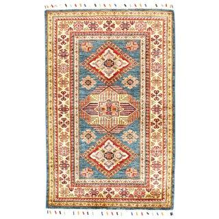 """Pasargad N Y Genuine Super Kazak Lamb's Wool Rug - 3'2"""" X 5' For Sale"""