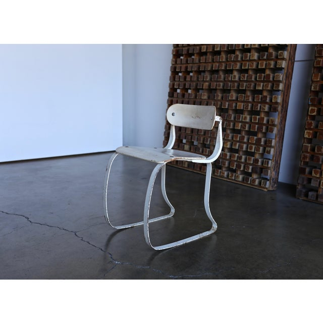 """Industrial 1940s Herman H. Sperlich for Ironrite """"Health"""" Chair For Sale - Image 3 of 13"""