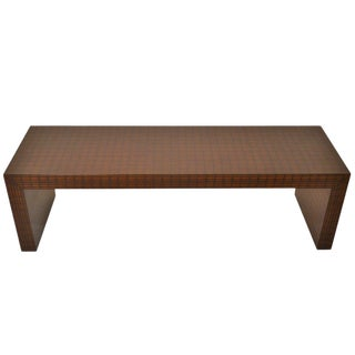 Faux Painted Modernist Coffee Table After Springer For Sale