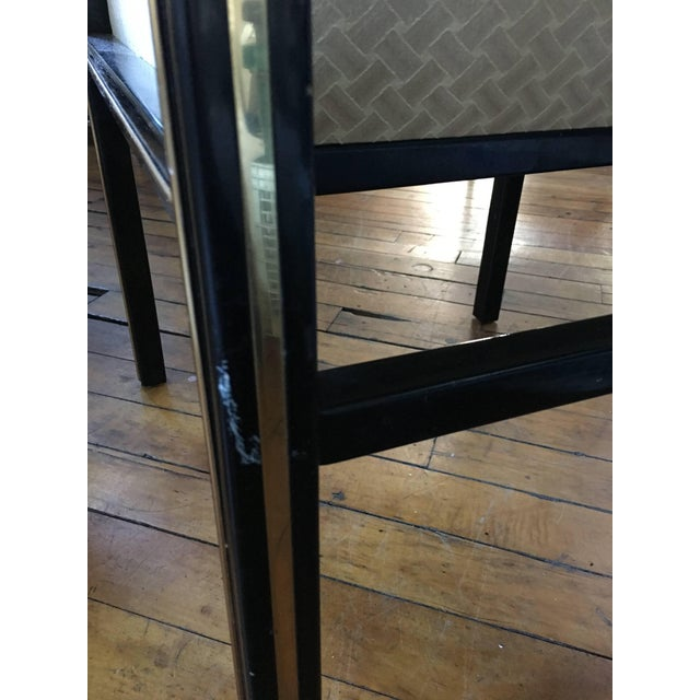 1970's Mastercraft Dining Chairs, Black and Brass, Set of Six For Sale - Image 10 of 11
