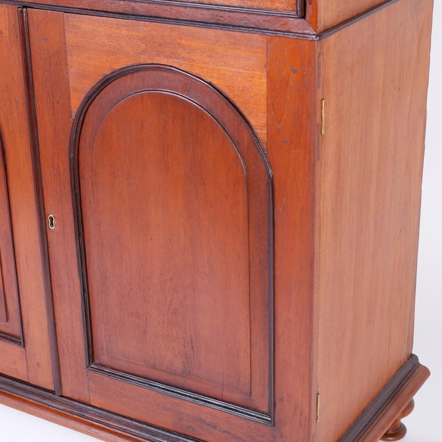 Wood Anglo Indian Two-Door Cabinet or Sideboard For Sale - Image 7 of 10