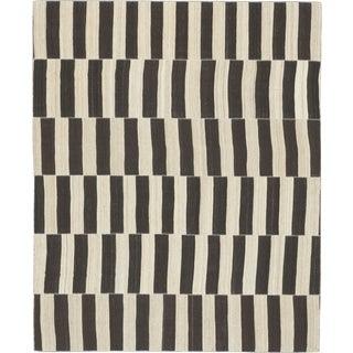 Vintage Kilim Composition Rug- 9′ × 11′ For Sale