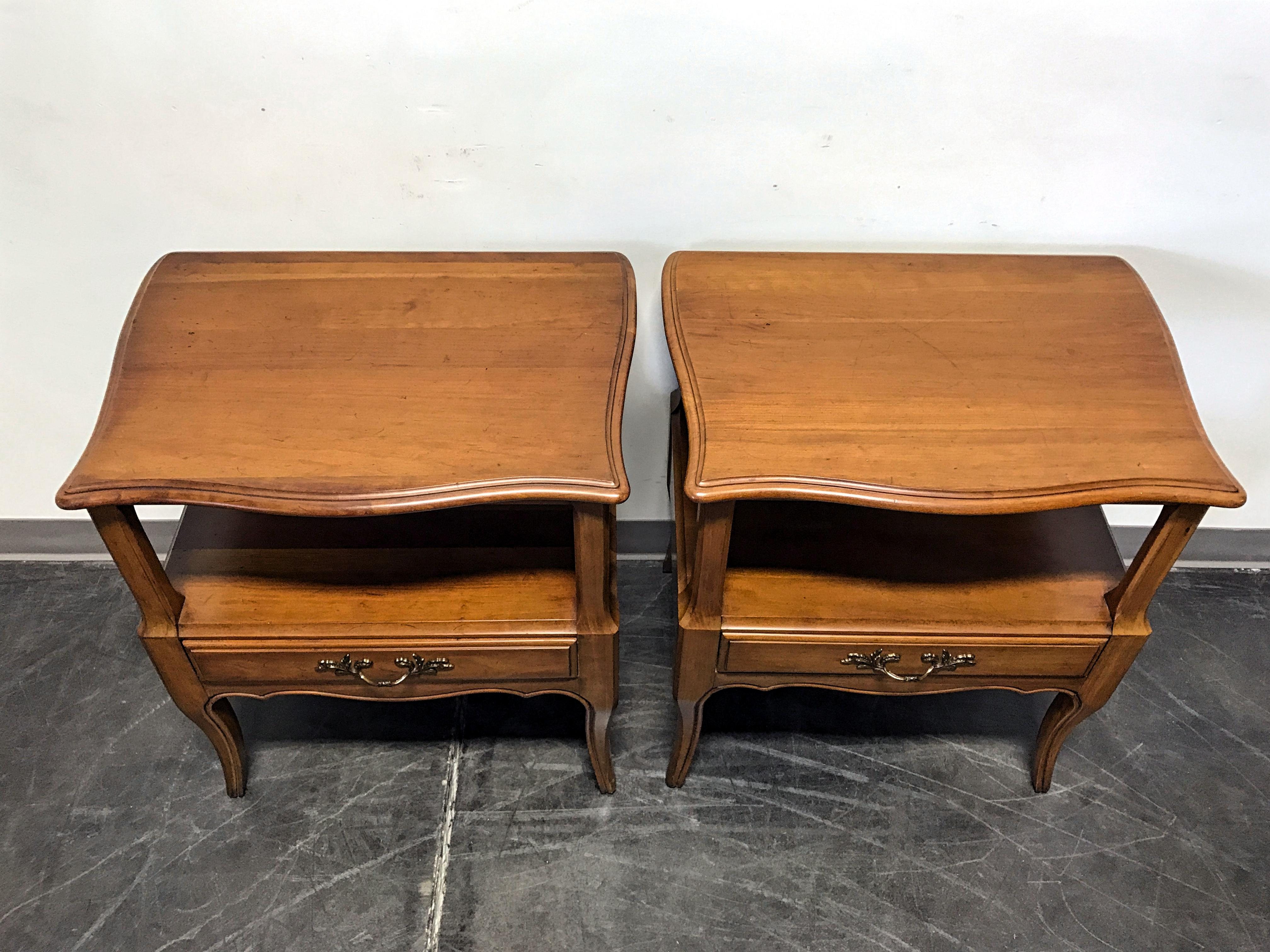 Davis Cabinet Co French Provincial Nightstands   A Pair   Image 5 Of 11