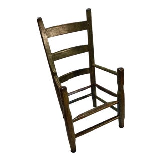 Antique Childrens Wooden Kitchen Chair For Sale