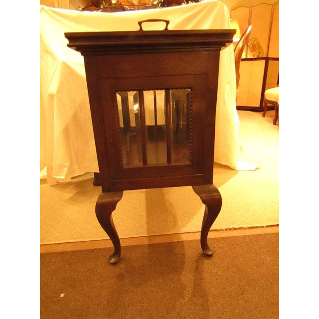 Glass Antique Mahogany Chocolate Display Table For Sale - Image 7 of 7