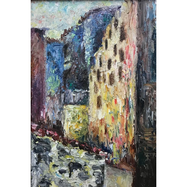 Impressionist Early 20th Century European Impressionist Style Oil Painting, Framed For Sale - Image 3 of 4