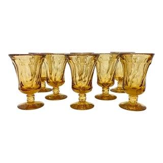 Fostoria Light Amber Tea Goblets - Set of 8 For Sale