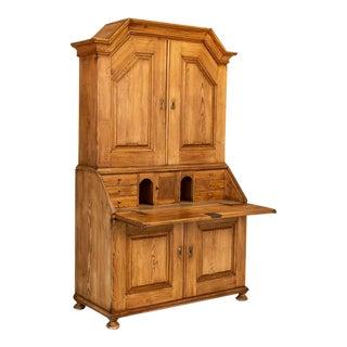 Antique Swedish Pine Bureau Secretary, Circa 1840 For Sale