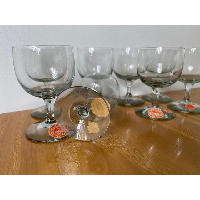 Glass Vintage 1950s Holmegaard Denmark Elsinore Smoke Glass Cordials Stemware - Set of 8 For Sale - Image 7 of 10