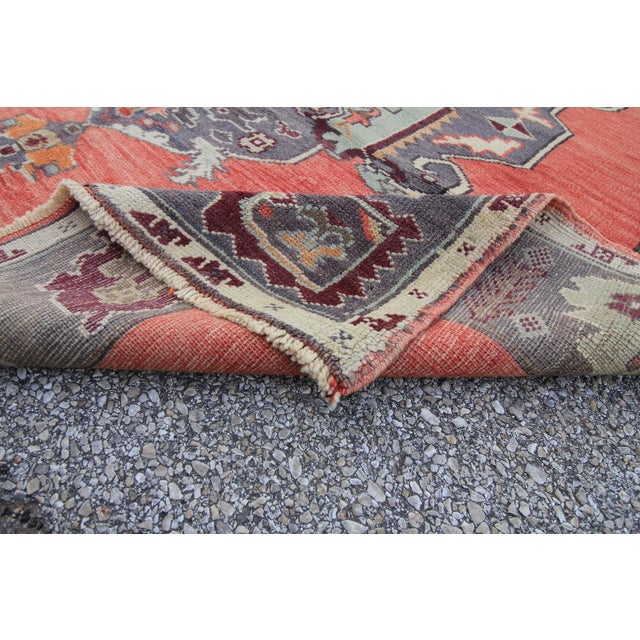 Tribal Antique Turkish Oushak Hand Knotted Rug - 5'1 X 8'2 For Sale In Houston - Image 6 of 6