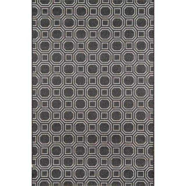 "Erin Gates Downeast Camden Charcoal Machine Made Polypropylene Area Rug 5' X 7'6"" For Sale"