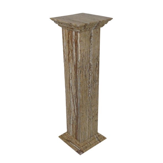 Travertine Statue or Plant Stand For Sale