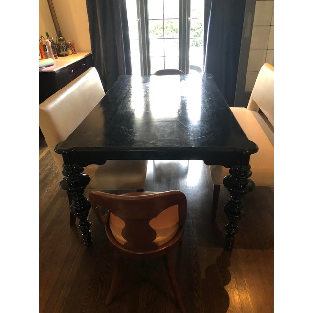 Mediterranean Noir Ferret Dining Table For Sale - Image 12 of 13