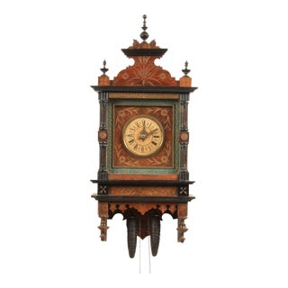 19th-C. Dutch Wall Clock For Sale