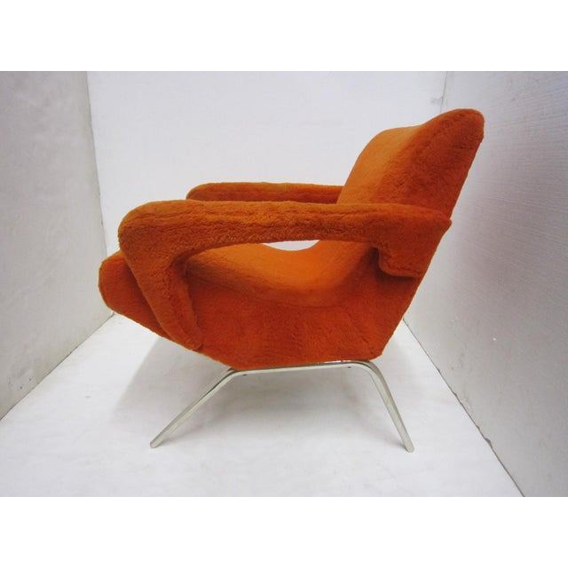 Mid-Century Italian Upholstered Lounge Slipper Chairs - a Pair For Sale - Image 11 of 13