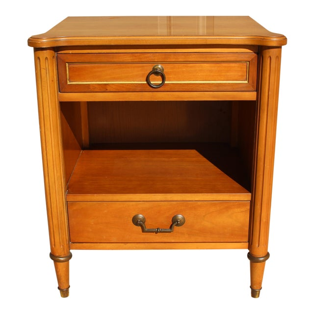 1950s Danish Modern j.b. Van Sciver Co. Nightstand Side Table For Sale
