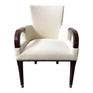 Ralph Lauren Home Brook Street Dining Arm Chair in Velvet For Sale